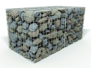 We supply Gabion baskets which are wire mesh baskets filled with stone or rock to form large building modules landscape designers use for gardens & parks.